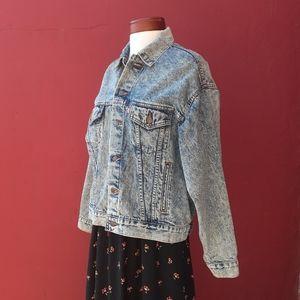 Levi's Rare Vintage Acid Wash Jean Jacket Blogger